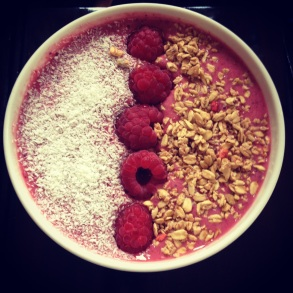 Raspberry and Apple Breakfast Bowl